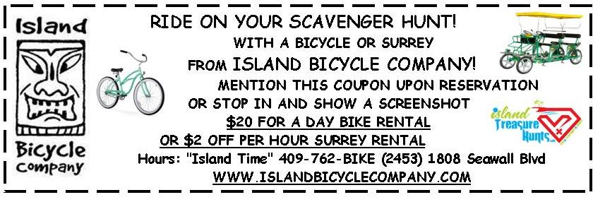 ISLAND BIKE COUPON AD